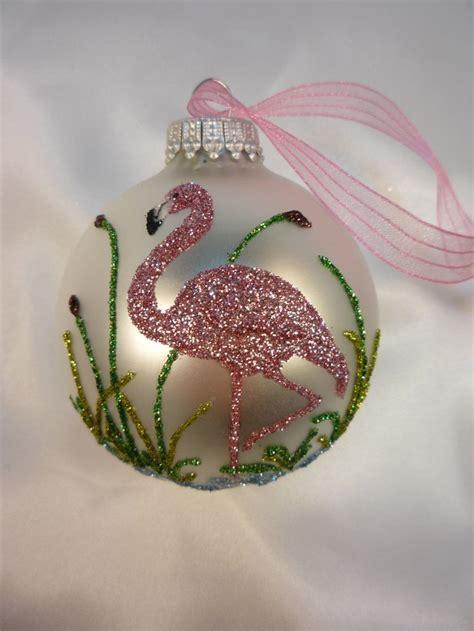 pink flamingo ornaments pink flamingo glitter ornament florida