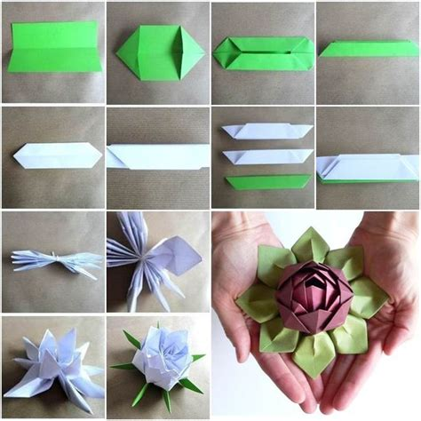 origami paper flower tutorial origami lotus flower