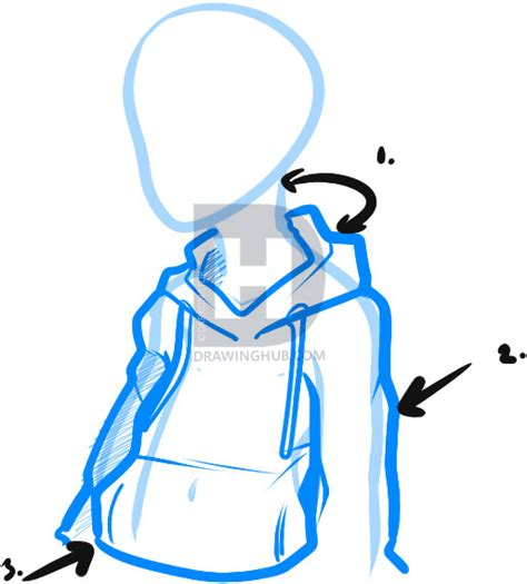 how to draw hoodies how to draw a hoodie draw hoodies step by step by