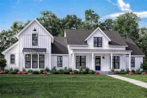 architectural plans for homes 4 bed modern farmhouse with bonus garage 51773hz architectural designs house plans