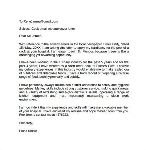 email cover letter example 10 download free documents