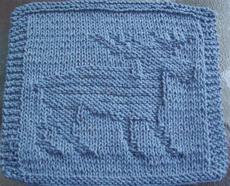 knitted dishcloths patterns digknitty designs moose knit dishcloth pattern