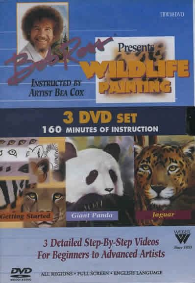 bob ross painting dvd set bob ross wildlife painting 3 dvd set painting crafts