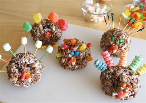 edible crafts for rice krispies treats turkeys edible crafts