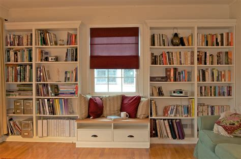 ikea built in bookshelves ikea hacks ikea hackers built in bookshelves with window