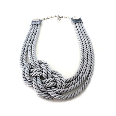 rope for jewelry grey nautical sailor s knot infinity rope necklace i d