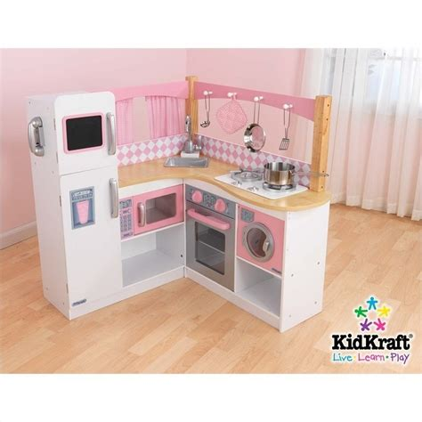 kid craft kitchen kidkraft grand gourmet corner kitchen 53185