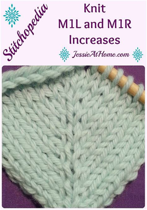 make 1 left knitting stitchopedia m1r and m1l tutorial with at