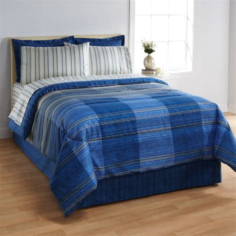 bed blue essential home complete bed set gradiant blue home bed