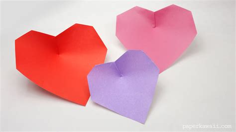origami hearts easy origami paper kawaii