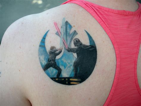 star wars rebel tattoo my newest tattoo it s luke and