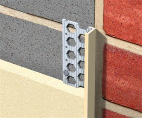 how to use plaster stop bead pvcu stop for thin coat acrylic render renderplas