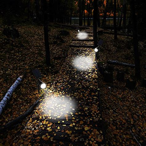 landscape lighting lumens separated panel and stake 200 lumens solar in ground lights wall lights waterproof 4 led