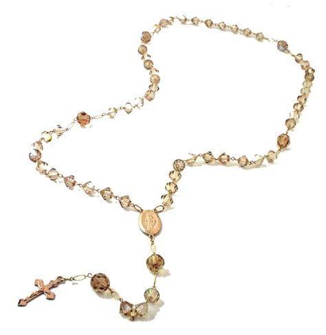 what are rosary gabrielle golden swarovski rosary