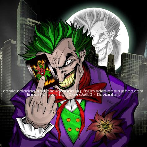 comic book joker pictures comic coloring of the joker by fourxs on deviantart