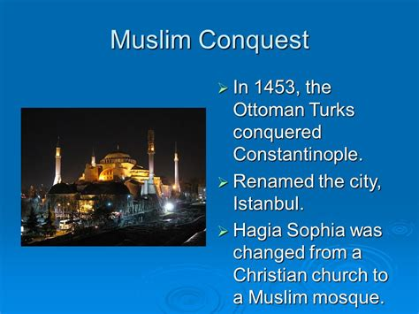ottomans conquered constantinople in 1453 the ottomans conquered which important christian