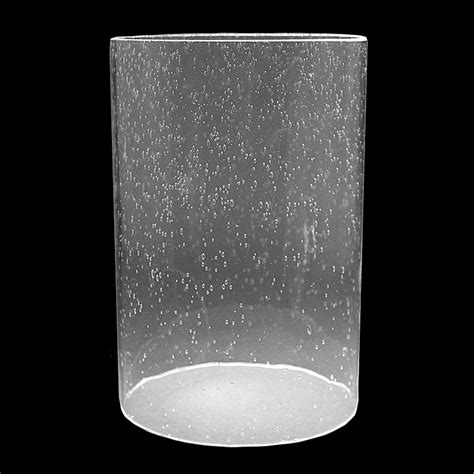 seed glass 5917 clear seeded glass cylinder 5 quot x 7 1 4 quot glass