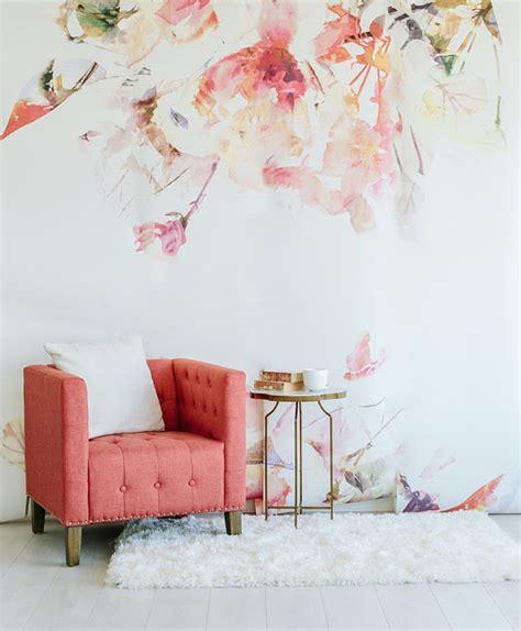 Wallpaper Wall Mural sale spring floral large wall mural watercolor mural