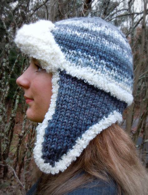 knit hat ear flaps pattern earflap hat knitting patterns in the loop knitting