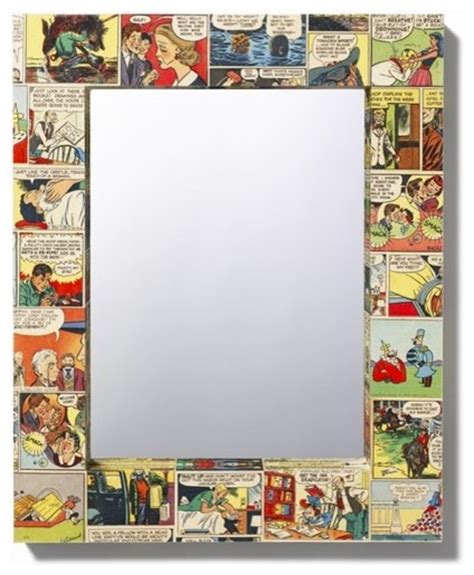 decoupage comic comic decoupage mirror by bombus on etsy eclectic wall