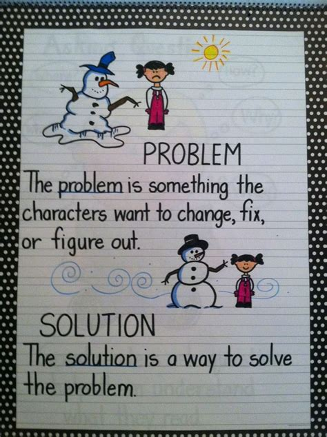 picture books to teach problem and solution problem solution anchor chart social skills