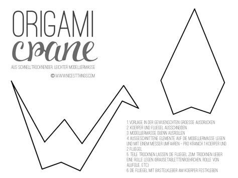 origami bird template fr 252 hlingsdeko diy origamikraniche aus modelliermasse