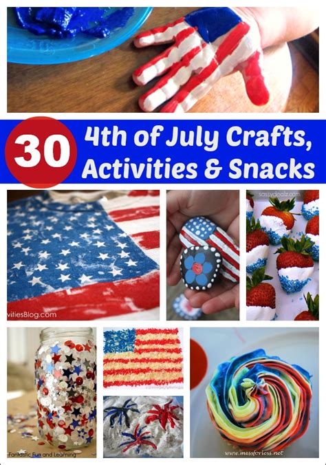 fourth of july crafts for 4th of july craft noisemaker mess for less