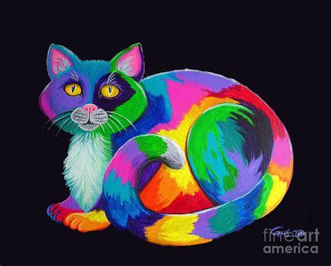 rainbow cat painting nick gustafson artist website