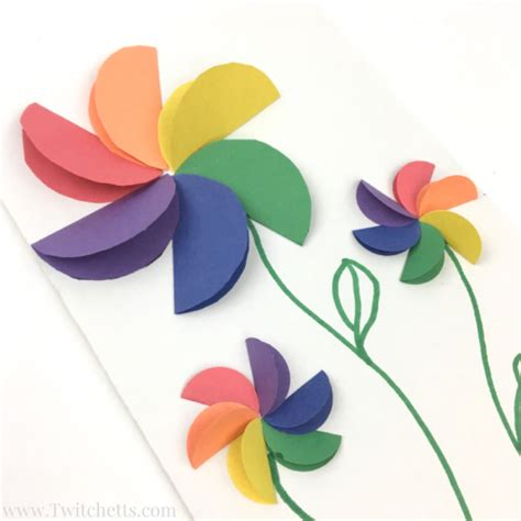 craft with paper flowers construction paper crafts for rainbow flowers