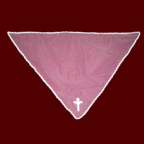 beaded trim for veil communion mantilla veil with beaded trim cross smocked
