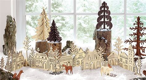 Cottage Home Plans store bought vs diy laser cut holiday decorations