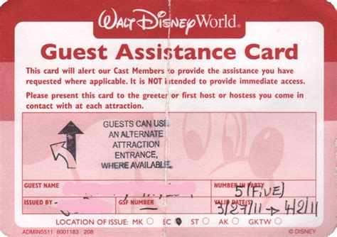 card needs the disney guest assistance card g a c controversy an