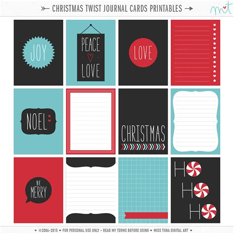 card blogs free printable twist journal cards