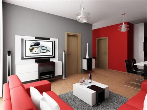 Red and Gray Living Rooms   Panda's House