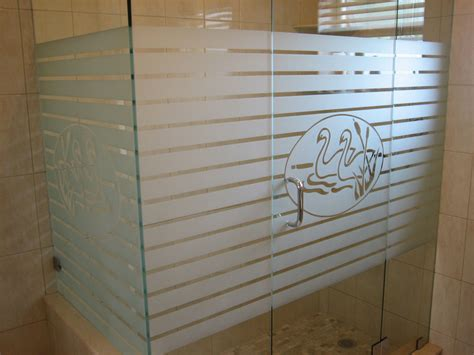 etched glass shower doors etched glass shower doors