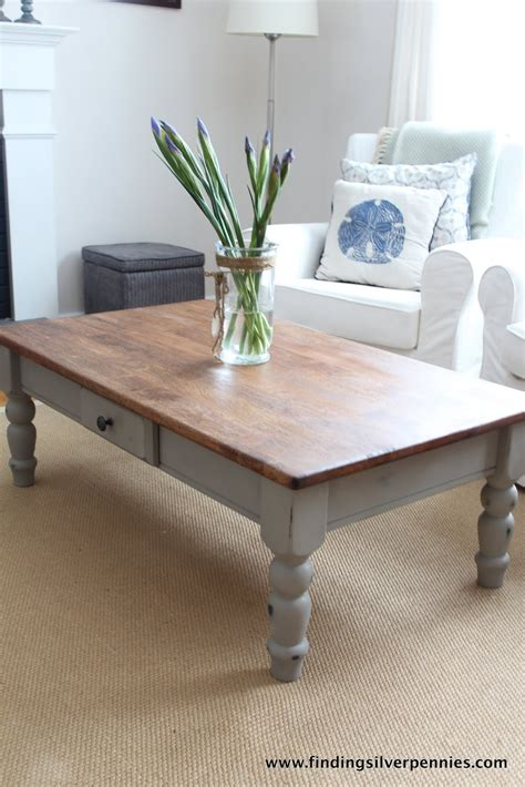 chalk paint ideas for coffee tables linen coffee table finding silver pennies