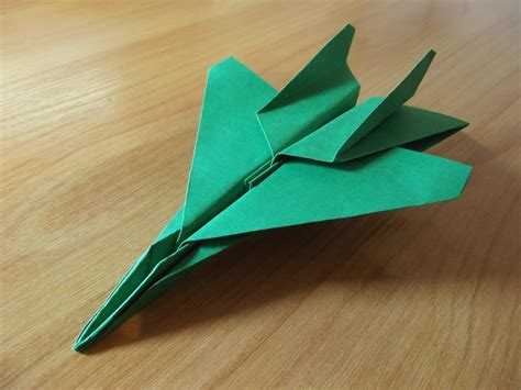 origami paper plane fighter how to make an f15 eagle jet fighter paper plane