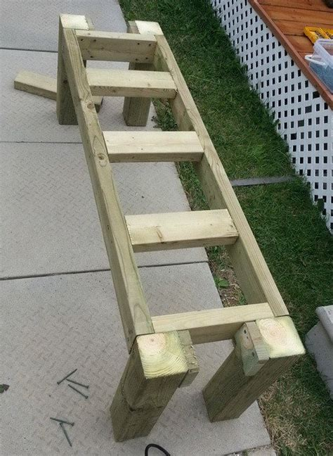 patio bench plans how to build a simple patio deck bench out of wood step by