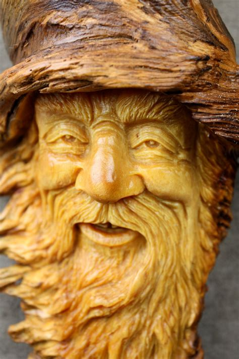 woodworking carving wood carving wizard tree spirit wood by
