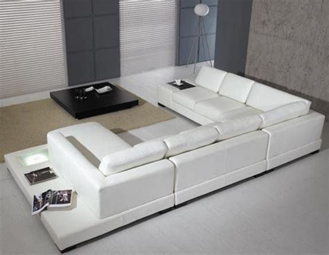 contemporary sectional leather sofa modern leather 5 sectional sofa in white by tosh