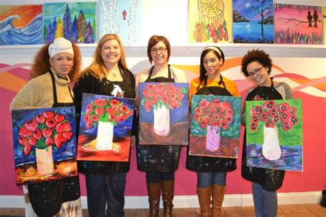 paint nite nyc locations at latham site with friends and family picture of