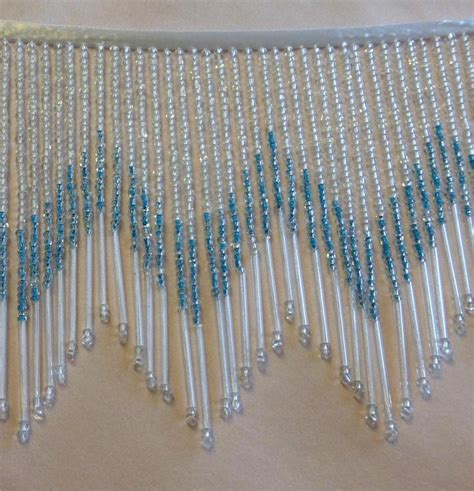 beaded fringe trim sale blue and 5 1 2 quot glass beaded fringe trim 125