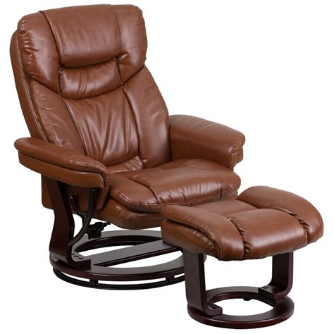 recliner with ottoman leather leather recliner with ottoman images