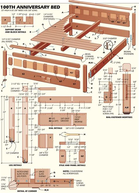 free woodworking plans for beds 100th anniversary bedroom suite build a mahogany bed