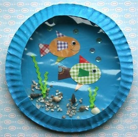 paper fish bowl craft fish bowl with paper plates paper plates