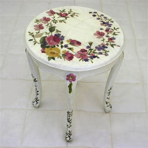 decoupage table n be louis xv decoupage side table