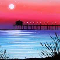 muse paintbar md print sunset paddle boarder painting painting