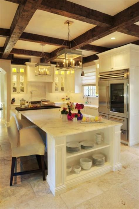 Make A Kitchen Island chic design trend exposed beams