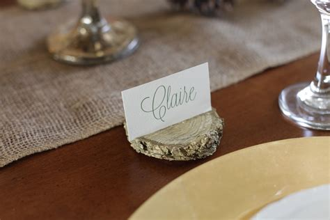 how to make a place card holder diy place card holders from wood chips