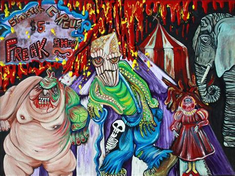 vegas painting show freak show the sinister circus by barbosa